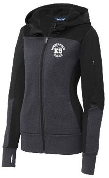 Picture of Sport-Tek® Ladies Tech Fleece Colorblock Full-Zip Hooded Jacket(LST245)
