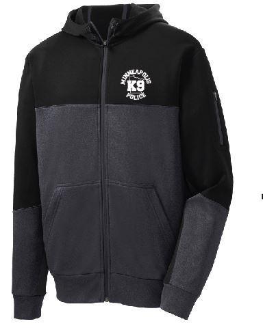 Picture of ST245 Sport-Tek® Tech Fleece Colorblock Full-Zip Hooded Jacket