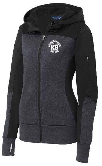 Picture of Sport-Tek® Ladies Tech Fleece Colorblock Full-Zip Hooded Jacket(LST245)