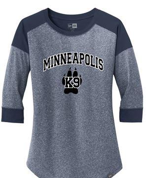 Picture of New New Era® Ladies Heritage Blend 3/4-Sleeve Baseball Raglan Tee( LNEA104)